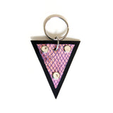 Trianthem keychain, mermaid triangle leather