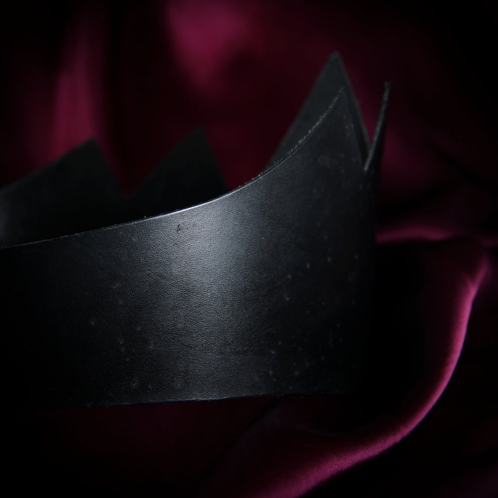 Flawed Leather Crown (Tall)