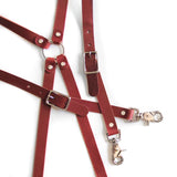 Leather Suspenders - Chestnut (X-back style)