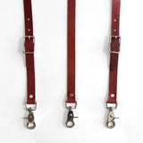 Leather Suspenders - Chestnut (Y-back style)