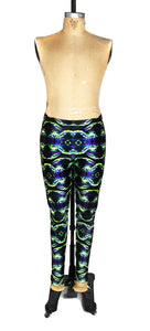 Kaleidoscope crab leggings, front view