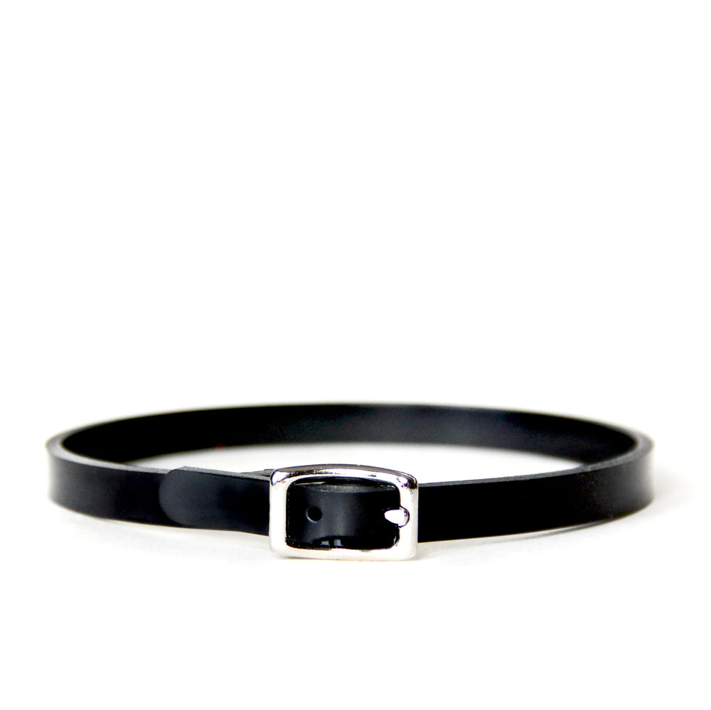 Mini Basic Buckle Choker -- Faux Leather