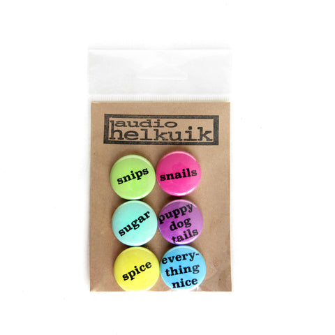 Gender Casserole Pin Set in Confetti colors