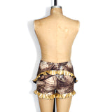 Golden Ruffle Shorties
