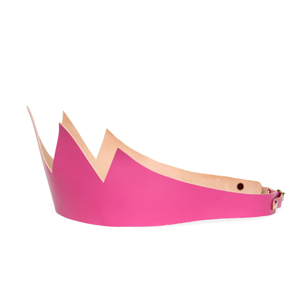 Pink Leather Crown (Short)