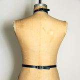 Back view, black leather Artifice harness