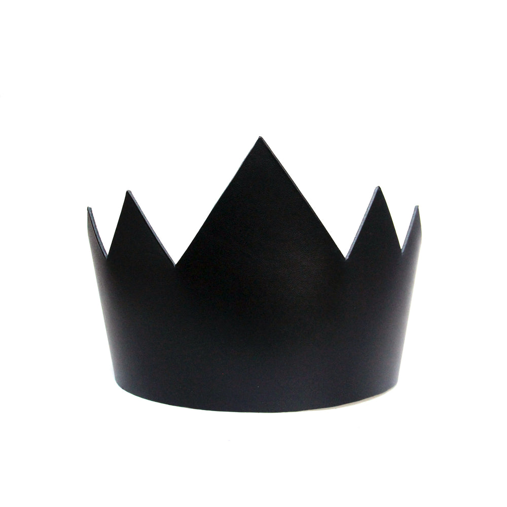 Black leather crown tall, front view