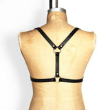 Half suspender harness back view