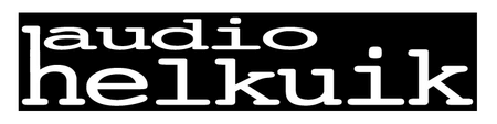 audio helkuiklogo, black with white lettering