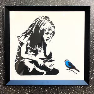 Banksy Girl & Bluebird