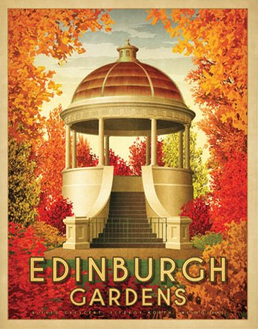 Edinburgh Gardens North Fitzroy Art Print