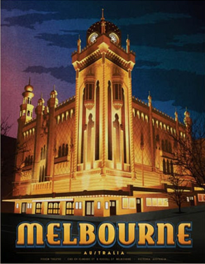 Forum Theatre, Melbourne Art Print