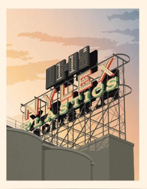 Nylex Sign, Melbourne (11 degrees) Art Print