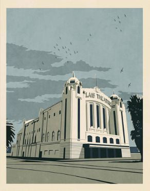 Palais Theatre, Melbourne Art Print (Blue)