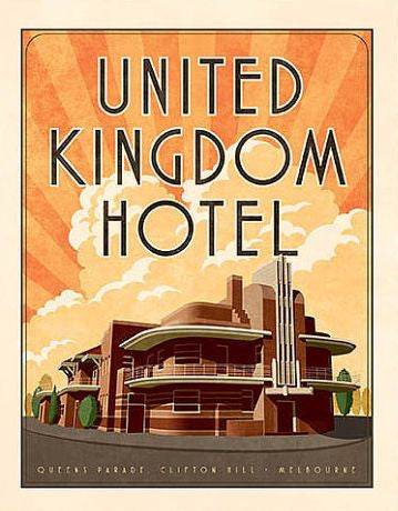 United Kingdom Hotel, Melbourne Art Print