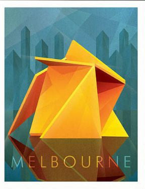 Yellow Peril, Melbourne Art Print