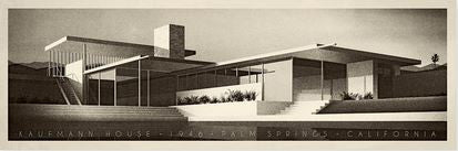 Kauffman House, 1956, Palm Springs, California (Black & White)