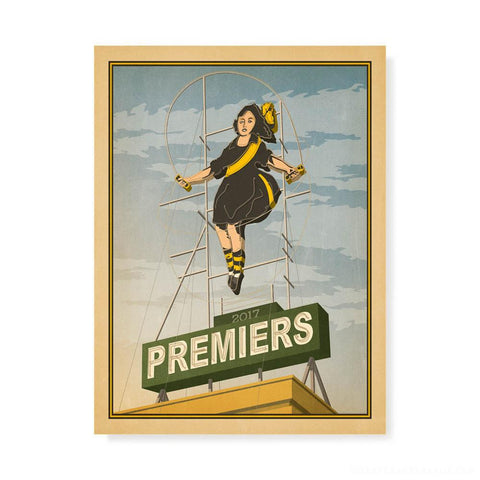 Richmond Premiers Skipping Girl Print