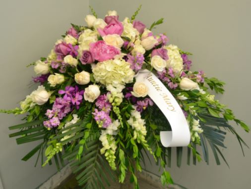 standing spray sympathy funeral delivery flowers