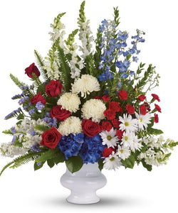 sympathy & funeral flower delivery patriot colors Chicago, IL