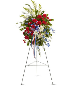 patriotic flower funeral flower delivery sympathy Chicago, IL