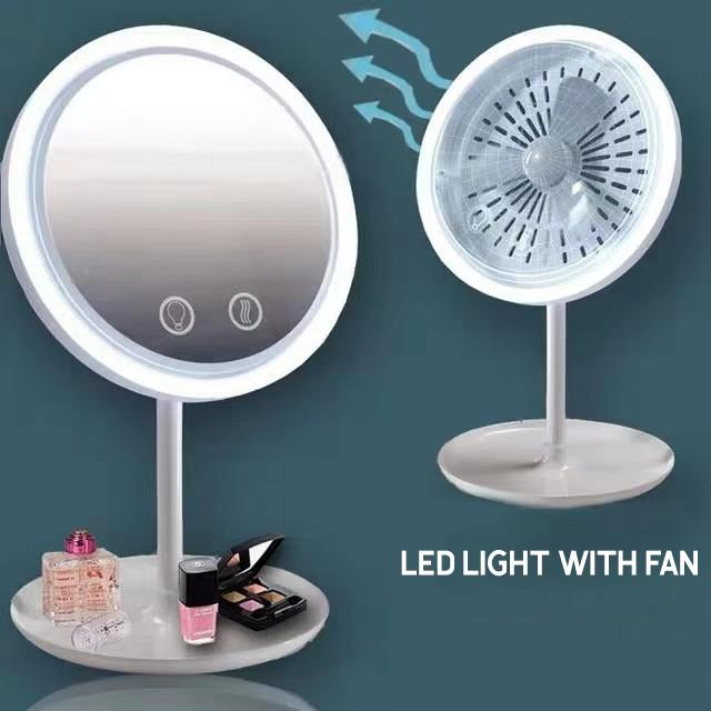 LED Lighted Beauty Makeup Mirror with Fan
