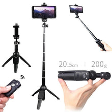 Load image into Gallery viewer, 3in 1 SELFIE STICK & BLUETOOTH WIRELESS REMOTE