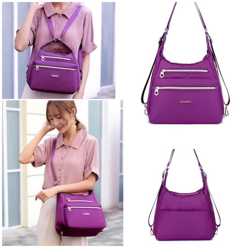 3-WAY Double Side Nylon Shoulder Bag