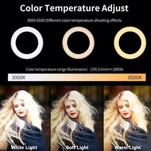 Dimmable LED Ring Light Selfie