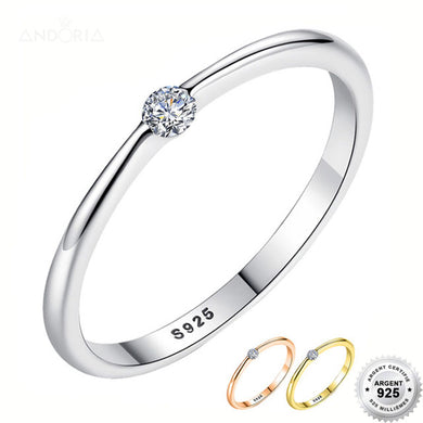 Bague Purity - Argent 925 & Strass - ANDORIA