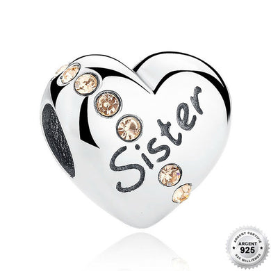 Charm Coeur Sister - Argent 925 & Strass - ANDORIA
