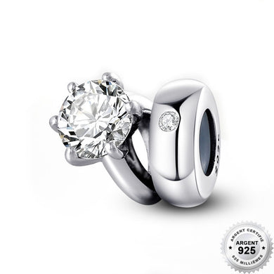 Charm Espaceur Mariage - Argent 925 & Strass - ANDORIA