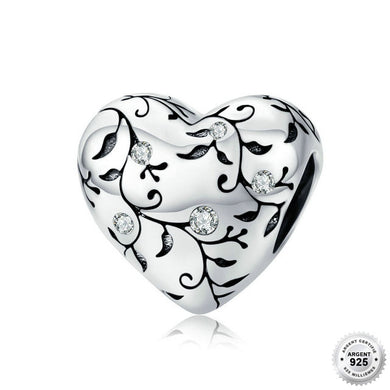Charm Coeur Baroque - Argent 925 & Strass - ANDORIA
