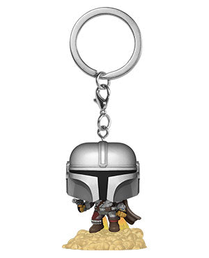 Funko Pop Keychain: Star Wars The Mandalorian - Mando w/Blaster