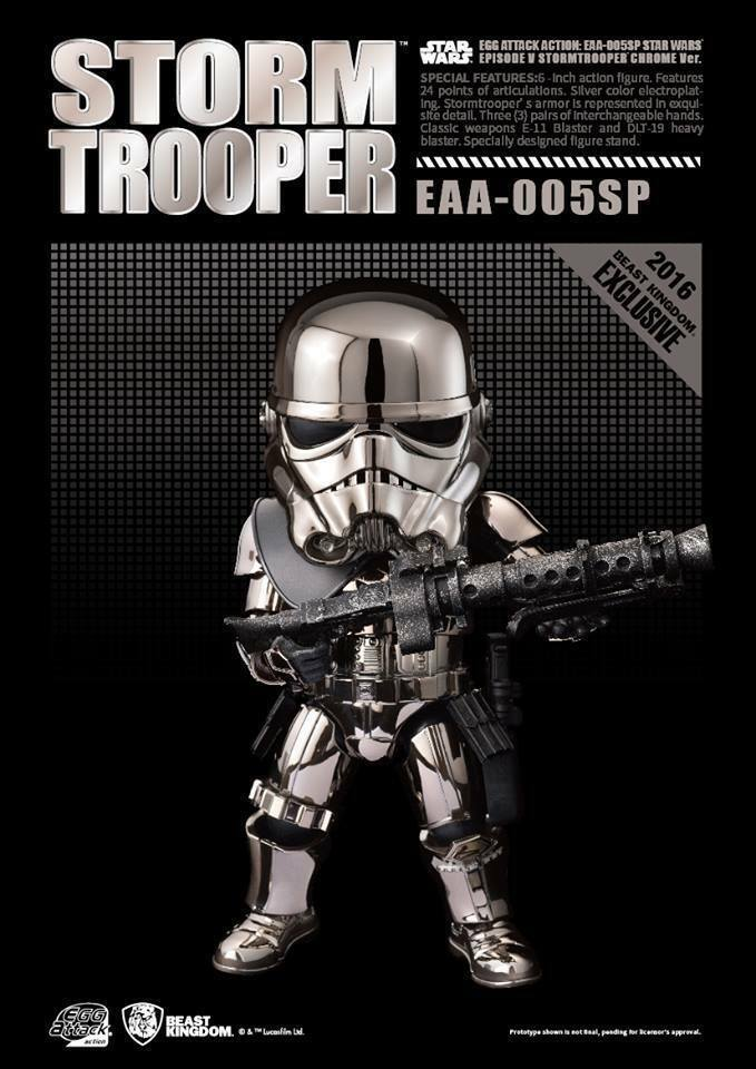 Beast Kingdom Star Wars Egg Attack EAA-005SP Chrome Stormtrooper (2016 SDCC Exclusive)