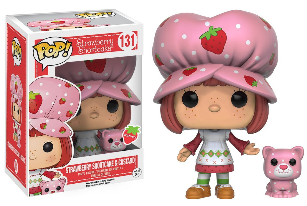 Funko Pop! Animation: Strawberry Shortcake - Strawberry Shortcake & Custard (Scented)