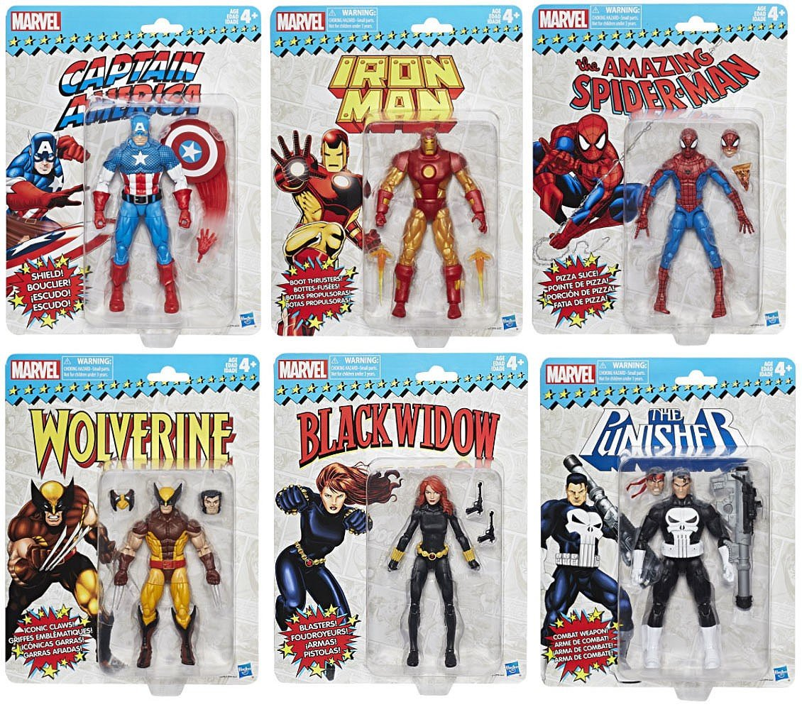 Marvel Legends Vintage Wave 1 Action Figures (Set of 6)