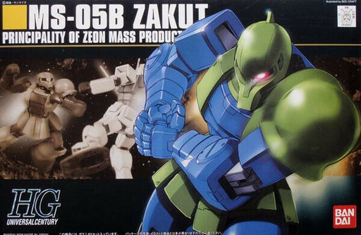 Bandai Hobby Mobile Suit Gundam - #64 MS-05B Zaku I HG Model Kit