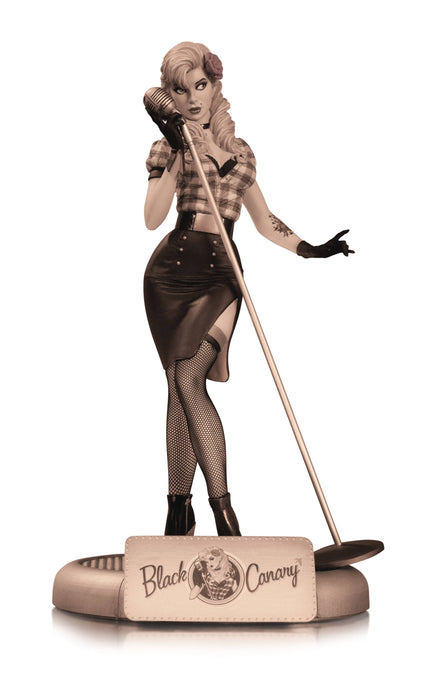 DC Collectibles Bombshells Black Canary (Sepia Variant) Statue