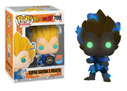 Funko Pop! Animation: Dragon Ball Z - Super Saiyan 2 Vegeta (Glow-in-the-Dark Chase Variant)