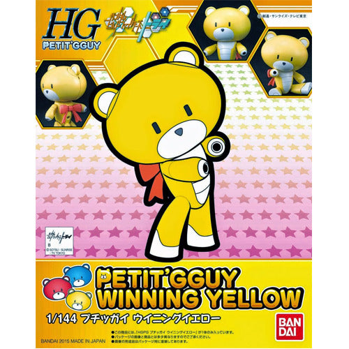 Bandai Hobby Gundam Build Fighters Try - #03 Petit'gguy Winning Yellow 1/144 HG Model Kit