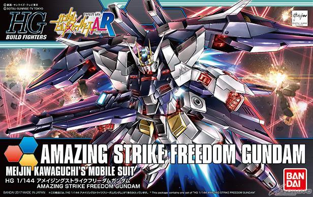 Bandai Hobby Gundam Build Fighters - #53 Amazing Strike Freedom Gunda (Meijin Kawaguchi's Mobile Suit) 1/144 HG Model Kit