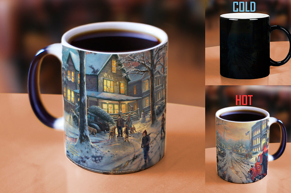 Morphing Mugs Thomas Kinkade (A Christmas Story) Heat-Sensitive Mug