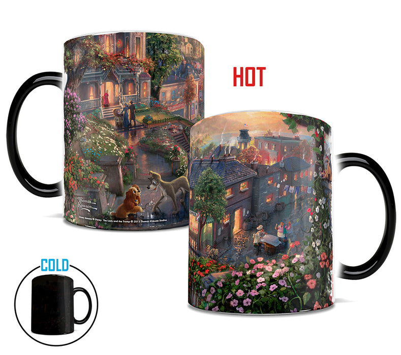 Morphing Mugs Thomas Kinkade Disney (Lady and The Tramp) Heat-Sensitive Mug