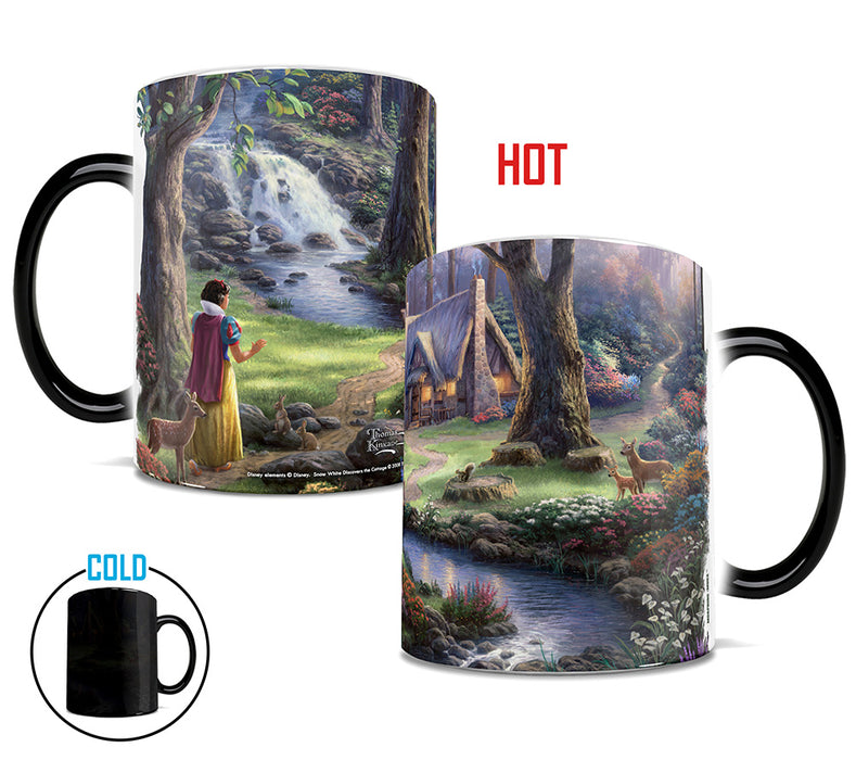 Morphing Mugs Thomas Kinkade Disney (Snow White Discovers the Cottage) Heat-Sensitive Mug