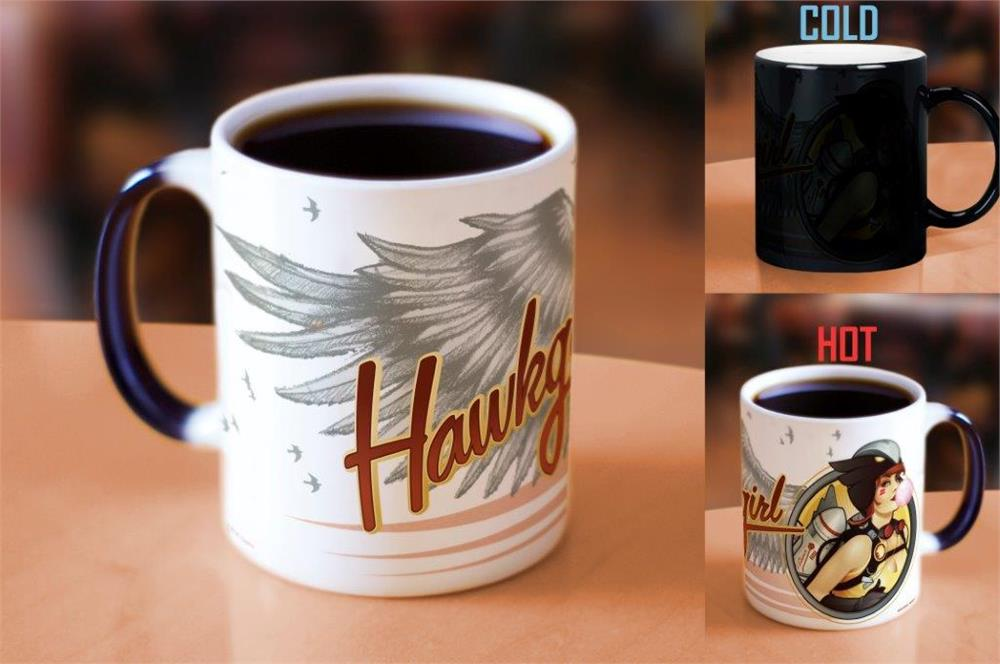 Morphing Mugs DC Comics Justice League (Hawkgirl Bombshell) Heat-Sensitive Mug