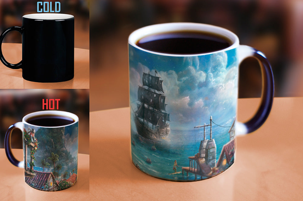 Morphing Mugs Thomas Kinkade Disney (Pirates of the Caribbean) Heat-Sensitive Mug