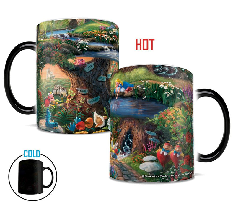 Morphing Mugs Thomas Kinkade Disney (Alice in Wonderland) Heat-Sensitive Mug