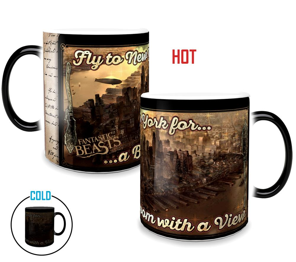 Morphing Mugs Fantastic Beasts and Where to Find Them (Broom with a View) Heat-Sensitive Mug