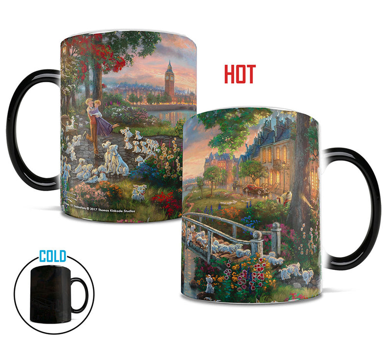 Morphing Mugs Thomas Kinkade Disney (101 Dalmatians) Heat-Sensitive Mug